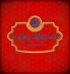 Christmas polka dot frame with snowflakes vector image vector image