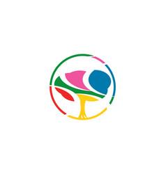 colorful tree logo vector image vector image