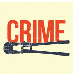 Crime poster vector