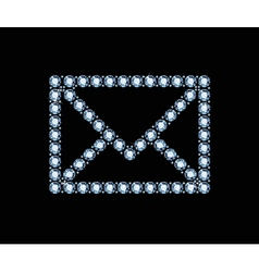 Diamond Email Icon vector image vector image
