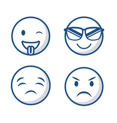 Emoticons faces icon vector
