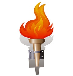 Flame and torch vector image vector image