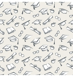 graduation caps background vector image
