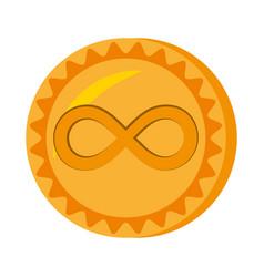Infinitecoin money golden icon vector