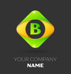 Letter b logo symbol in colorful rhombus vector