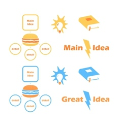 Main Idea Collection Icons vector image vector image