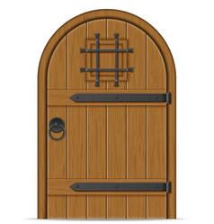 Old wooden door vector