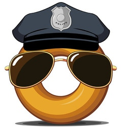 Police Donut vector image vector image