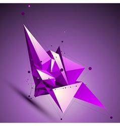 Purple spatial technological shape polygonal vector