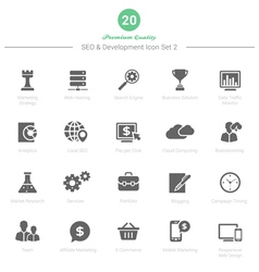 Set of SEO and Development icons Set 2 vector image vector image