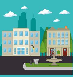 Urban city landscape vector