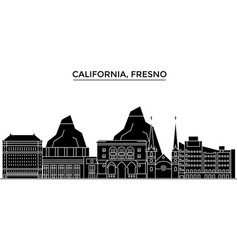 usa california fresno architecture city vector image