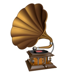 Vintage gold gramophone vector