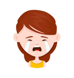 woman young girl crying flat vector image vector image