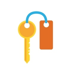 Key traditional security system icon vector