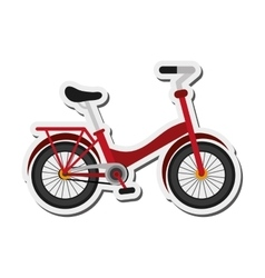 Single red bike icon vector