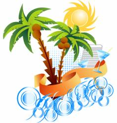 tropical seascape vector image