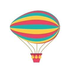 Balloon air zeppelin isolated icon vector