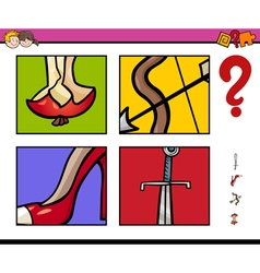 educational task with objects vector image