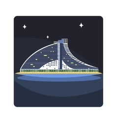 Wave hotel famous touristic attraction of united vector