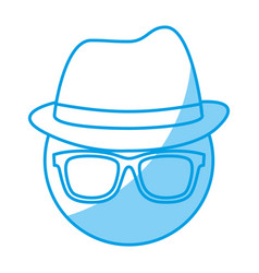 Glasses and hat icon vector