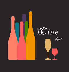 Wine art ilustration vector