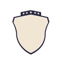 crest emblem five stars vector image