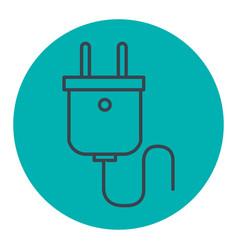 Energy plug isolated icon vector