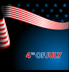 July fourth independence day flying flag of the vector