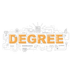 Design concept of word degree website banner vector