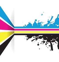 cmyk strip background vector image