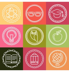 school logos vector image