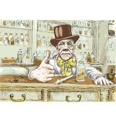 Old druggist vector