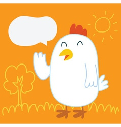 Chicken balloon talk vector
