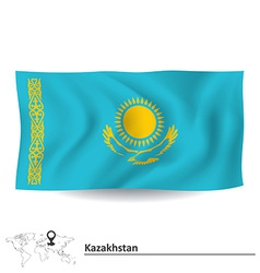 Flag of kazakhstan vector