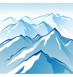 icy mountains vector image