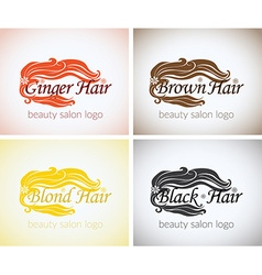 Hair salon company identity logo design mock up vector