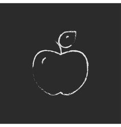 Apple icon drawn in chalk vector