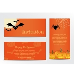 Set of inventations on halloween party in the vector