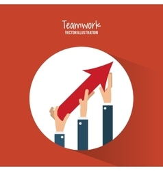 Teamwork and business design vector image