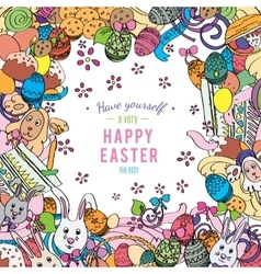 Awesome happy easter card in vector