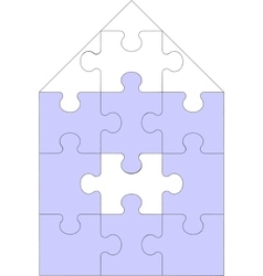 Abstract home puzzle 11 vector