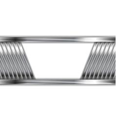Abstract silver metallic background vector