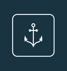 anchor outline symbol premium quality isolated vector image vector image