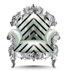 baroque luxury armchair realistic 3d vector image