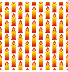 Candles pattern vector image