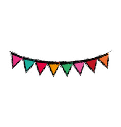 Decorative party pennants vector