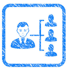Distribution manager framed stamp vector