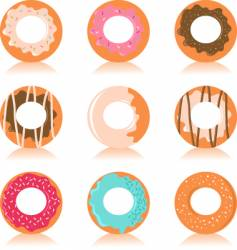donuts vector image vector image