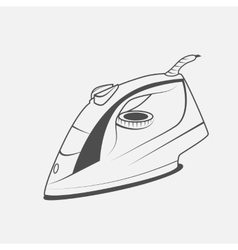 Electric iron icon vector